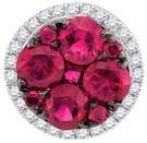 1.28 CTW DIAMOND RUBY FASHION PENDANT