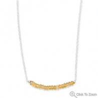 Faceted Citrine Bead Necklace - November Birthstone