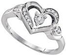0.06 CTW DIAMOND FASHION RING