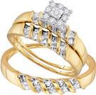 0.13CTW DIAMOND FASHION TRIO SET