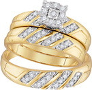 0.33 CTW DIAMOND FASHION TRIO-SET