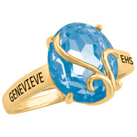 Ladies 10K Gold Fashion Afire Class Ring