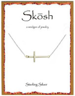 Skosh Polished Sideways Cross