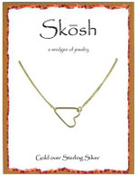 Skosh Sideways Open Heart - Gold Plated