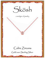 Skosh CZ Pendant - Gold Plated
