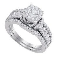 1.46CTW DIAMOND BRIDAL SET