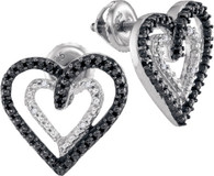 0.05CTW BLACK DIAMOND FASHION EARRING