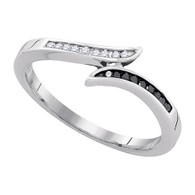 0.11CTW BLACK DIAMOND RING