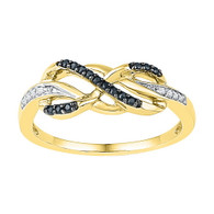 0.10CTW BLACK DIAMOND FASHION RING