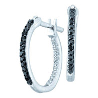 0.25CTW BLACK DIAMOND FASHION HOOPS