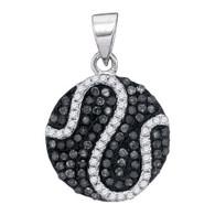 0.45CTW BLACK DIAMOND MICRO-PAVE PENDANT