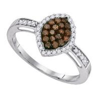 0.33CTW  COGNAC DIAMOND FASHION RING
