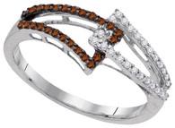 0.25CTW  COGNAC DIAMOND FASHION RING