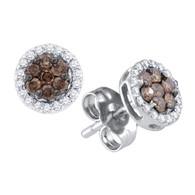 0.25CTW COGNAC DIAMOND FASHION EARRINGS