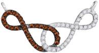 0.33CTW COGNAC DIAMOND FASHION NECKLACE