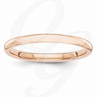 14k Rose Gold Polished 2mm Band
