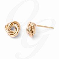Leslies 10K Rose Gold Polished Post Earrings