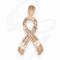 14k Rose Gold Awareness Pendant