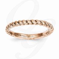 14k Rose Gold Polished Twisted Band