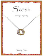 Skosh Tri-Tone Medium Circles Pendant
