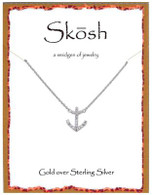 Skosh Anchor with CZ Pendant - Gold Plated