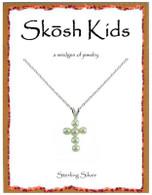 Skosh Children's Pearl Cross Pendant