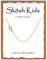 Skosh Children's Open Side Cross - -Gold Plated