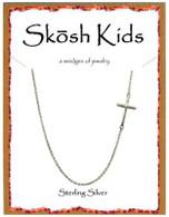 Skosh Children's Polished Sideways Cross Necklace