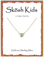 Skosh Children's White Pearl Necklace - Gold Plated