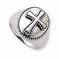 Sterling Silver Antiqued Boldness Ring