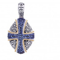 Phillip Gavriel 18k Yellow  Gold & Sterling Silver Pendant
