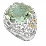 Phillip Gavriel 18k Yellow Gold &  Sterling Silver Ring