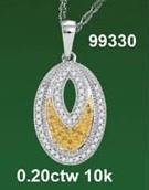 0.20 CTW 10K DIAMOND MICRO-PAVE NECKLACE