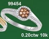0.20CTW 10K MULTI-COLOR DIAMOND MICRO-PAVE RING