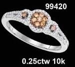 0.25CTW 10K MULTI-COLOR DIAMOND MICRO-PAVE RING
