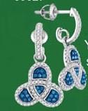0.50CTW 10K BLUE DIAMOND MICRO-PAVE EARRINGS