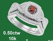0.50CTW 10K DIAMOND AND RUBY FASHION RING