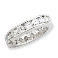 Sterling  Silver CZ Eternity Band