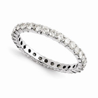 14k Moissanite Eternity Ring