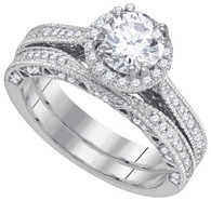 1.73CTW DIAMOND 1.00CT-CRD BRIDAL RING