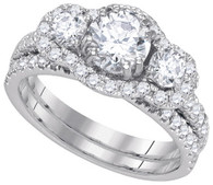 2.30CTW DIAMOND 1.00CT CENTER ROUND BRIDAL SET