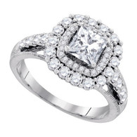 2.00CTW DIAMOND 1.00CTW CENTER PRINCESS BRIDAL RING