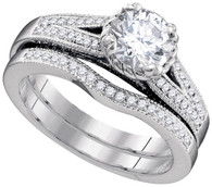 1.54CTW DIAMOND 1.10CT-CRD BRIDAL SET