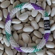 Purple, Forest Green, and White