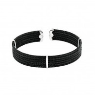 Montreaux Diamond Ends Black Cable Cuff