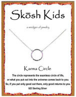 Skosh Children's Karma Circle Necklace