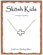 Skosh Children's  Open Cross Necklace