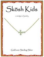 Skosh Children's Sideways Pearl  Cross Necklace