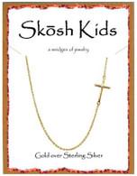 Skosh Children's Polished Side Cross Necklace