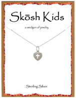 Skosh Children's Tiny Heart with Cross Necklace